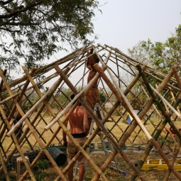 Installing the roof